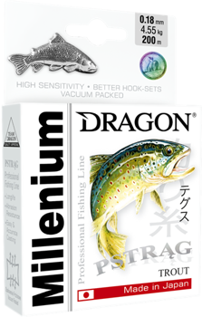 Dragon Monofile Schnur Millenium Forelle 0.18mm-4.55kg-200m