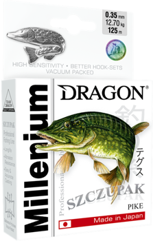 Dragon Monofile Schnur Millenium Hecht 0.20mm-5.20kg-200m