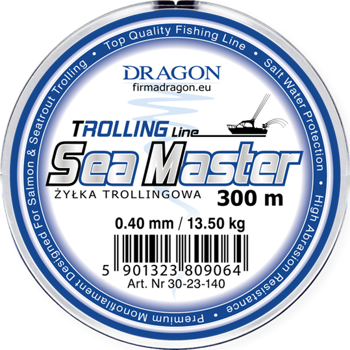 Dragon Monofile Schnur SEA MASTER Trolling Red 0.40mm-13.50kg-2000m