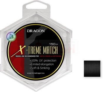 Dragon Monofile Schnur X-Treme Match Soft & Sinking 0.14mm-2.00kg-150m - Black-Halfmat