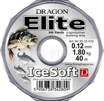 Dragon Żyłka Elite Ice Soft 0.22mm-5.55kg-40m