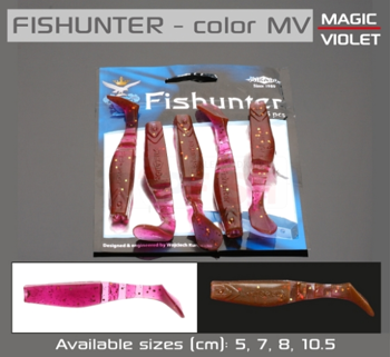 Mikado Soft Bait Fishunter 13cm / Mv - 3pcs