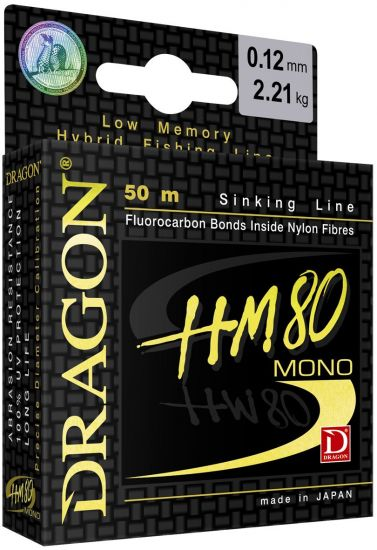 Dragon Monofile Schnur HM80 Pro 50m - 0.102mm - 1.72kg