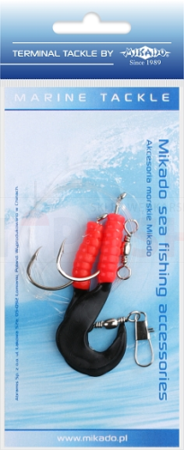 Mikado Set Sea - Pilk D-Twist Rig 5.5cm - Hooks 2 x 4/0(Red / Black)