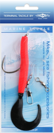 Mikado Set Sea - Pilk Twist Rig 14cm - Hook 8/0 (Red / Black)