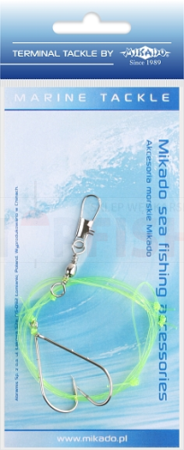 Mikado Set Sea - Simple Boom Rig 0.60mm - Hook 1/0