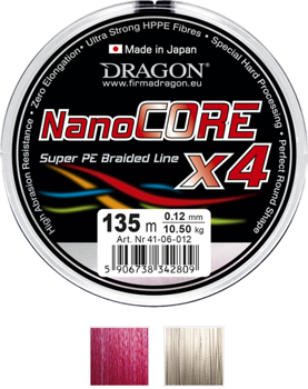 Dragon Plecionka NanoCORE X4 0.06mm-4.90kg-1000m