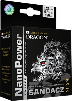 Dragon Żyłka NanoPOWER ZANDER 0.22mm-5.70kg-150m