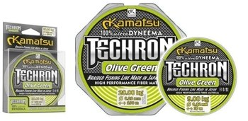 Kamatsu Plecionka Techron Olive Green 0.08mm - 135m