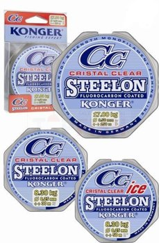 Konger Żyłka Steelon Ice Cristal Clear Fluorocarbon Coated 0.08mm-50m