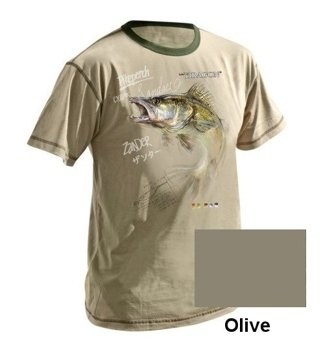 T-Shirt SANDACZ Dragon Lets Go Fishing - M - Olive