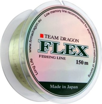 Żyłka TEAM Dragon FLEX 150m - 0.35mm/12.10kg - jasnozielona