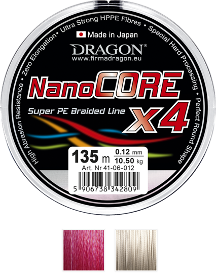 Dragon Plecionka NanoCORE X4 0.08mm-6.10kg-135m