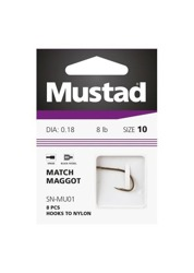 Mustad Haczyki Ultra Point Power Maggot 10515NP-BN - 12 / 0.16mm - 8x